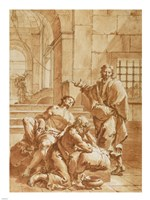 Joseph Interpreting the Dreams of His Fellow Prisoners Fine Art Print