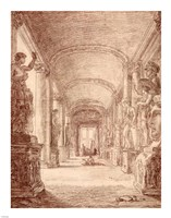 A Draftsman in the Capitoline Gallery Fine Art Print