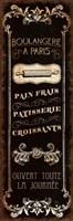 Parisian Signs Panel - I Framed Print