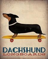 Dachshund Longboards Framed Print