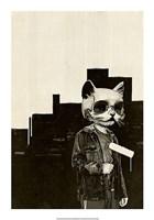 Roller Cat Fine Art Print