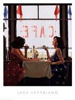 Cafe Days Fine Art Print