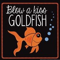 Blow a Kiss Goldfish Framed Print