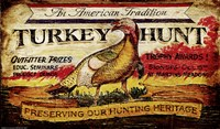 Turkey Hunt Framed Print