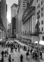 Wall Street HDR 1 Framed Print