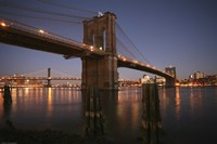 Brooklyn Bridge Twilight Fine Art Print