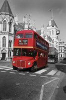 Red Bus Fine Art Print