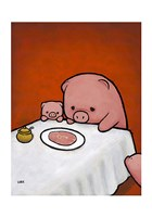 Revenge Is a Dish (Pig) Fine Art Print