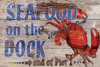 Seafood on the Dock Fine Art Print