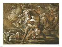 Tullia about to Ride over the Body of Her Father in Her Chariot Fine Art Print