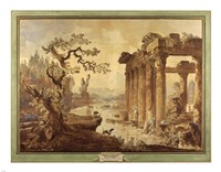 Landscape with Ruins Fine Art Print