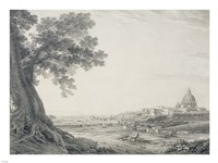 An Extensive View of Rome from the Orti della Pineta Sacchetti Fine Art Print