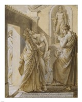 The Father of Psyche Consulting the Oracle of Apollo Framed Print
