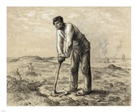 Man with a Hoe Fine Art Print