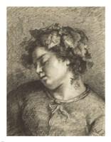 Head of a Sleeping Bacchante Fine Art Print