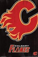 Calgary Flames - Logo 13 Wall Poster