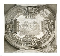 Study for a Ceiling with the Virgin and Christ in Glory Fine Art Print