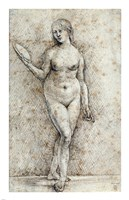 Nude Woman with a Mirror Fine Art Print