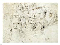 Studies of Heads Fine Art Print
