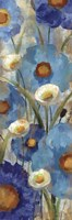 Sunkissed Blue and White Flowers I Fine Art Print