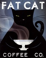 Cat Coffee no City Fine Art Print