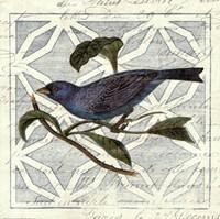 Monument Etching Tile II Blue Bird Framed Print