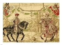 Johan IV van Nassau and His Wife Maria van Loon-Heinsberg Fine Art Print