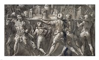 Triumphal Procession of Roman Soldiers Carrying a Model of a City Fine Art Print