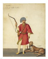 An Azappo Archer with a Cheetah Fine Art Print
