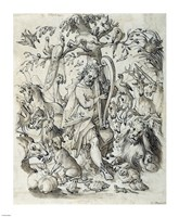 Orpheus Charming the Animals Fine Art Print