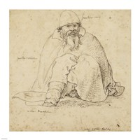 Seated Man Fine Art Print
