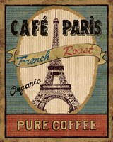 Coffee Blend Label II Framed Print