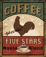 Coffee Blend Label III Framed Print