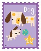 Animal Stamps - Dog Framed Print