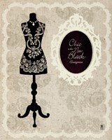 Chic Dress Form I Framed Print