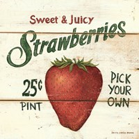 Sweet and Juicy Strawberries Framed Print