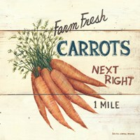 Farm Fresh Carrots Framed Print