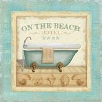 Beach Hotel I Framed Print