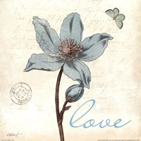 Touch of Blue IV - Love Fine Art Print
