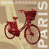 Cycling in Paris Fine Art Print