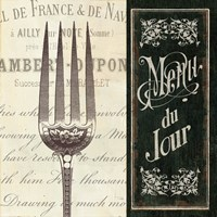French Menu II Framed Print