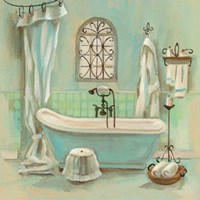 Glass Tile Bath I Framed Print