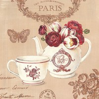 Parisian Flowers II Framed Print