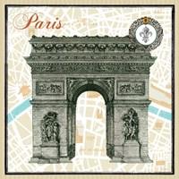 Monuments des Paris Arc Fine Art Print