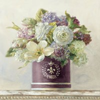 Tulips in Aubergine Hatbox Fine Art Print