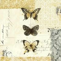 Golden Bees n Butterflies No. 2 Framed Print