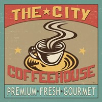 Coffeehouse I Framed Print