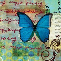Homespun Butterfly II Fine Art Print