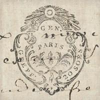 Letter Crest I Fine Art Print
