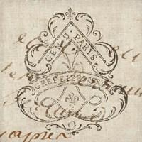 Letter Crest III Fine Art Print